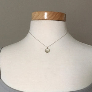 14k White Gold Tiny Aspen Leaf Necklace