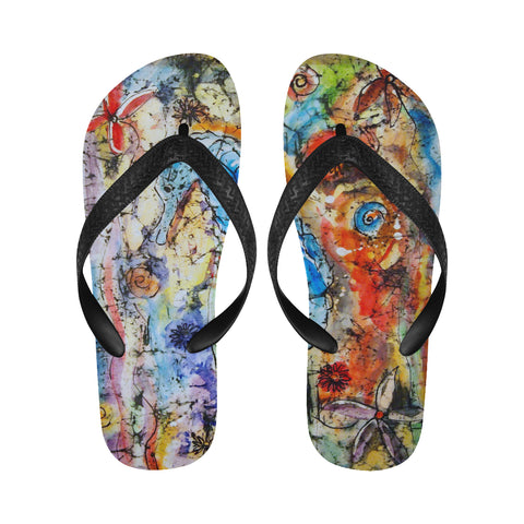 Graffiti Flip Flops for Men/Women (Model 040)