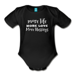 More Blessings Onesie - black
