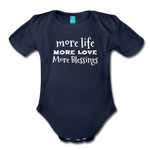 More Blessings Onesie - dark navy