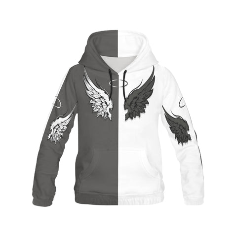 Angel Wings All Over Print Hoodie for Men (USA Size) (Model H13)