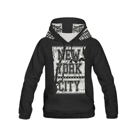 New York City All Over Print Hoodie for Women (USA Size) (Model H13)