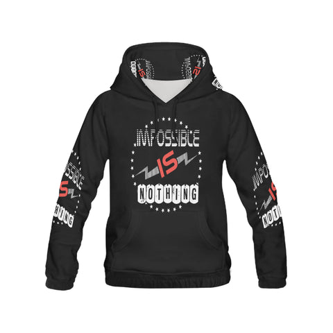 impossible is nothing All Over Print Hoodie for Men (USA Size) (Model H13)