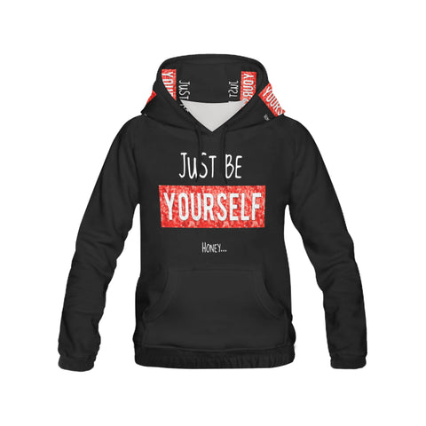 Just Be Yourself All Over Print Hoodie for Women (USA Size) (Model H13)