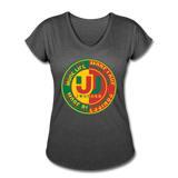 Women's Tri-Blend V-Neck T-Shirt - deep heather