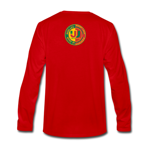 Men's Premium Long Sleeve T-Shirt - red