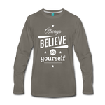 Men's Long Sleeve T-Shirt - asphalt gray