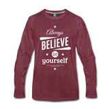 Men's Long Sleeve T-Shirt - heather burgundy