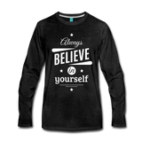 Men's Long Sleeve T-Shirt - charcoal gray