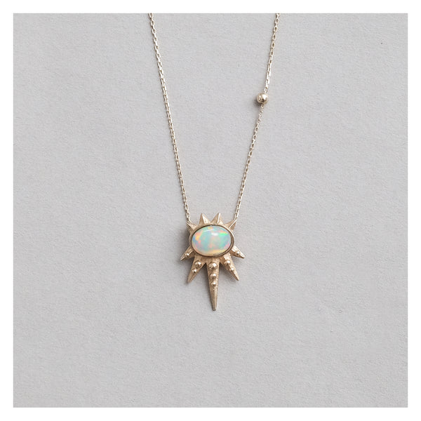 luz necklace // opal