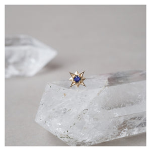 Open image in slideshow, northern star studs: diamond & sapphire