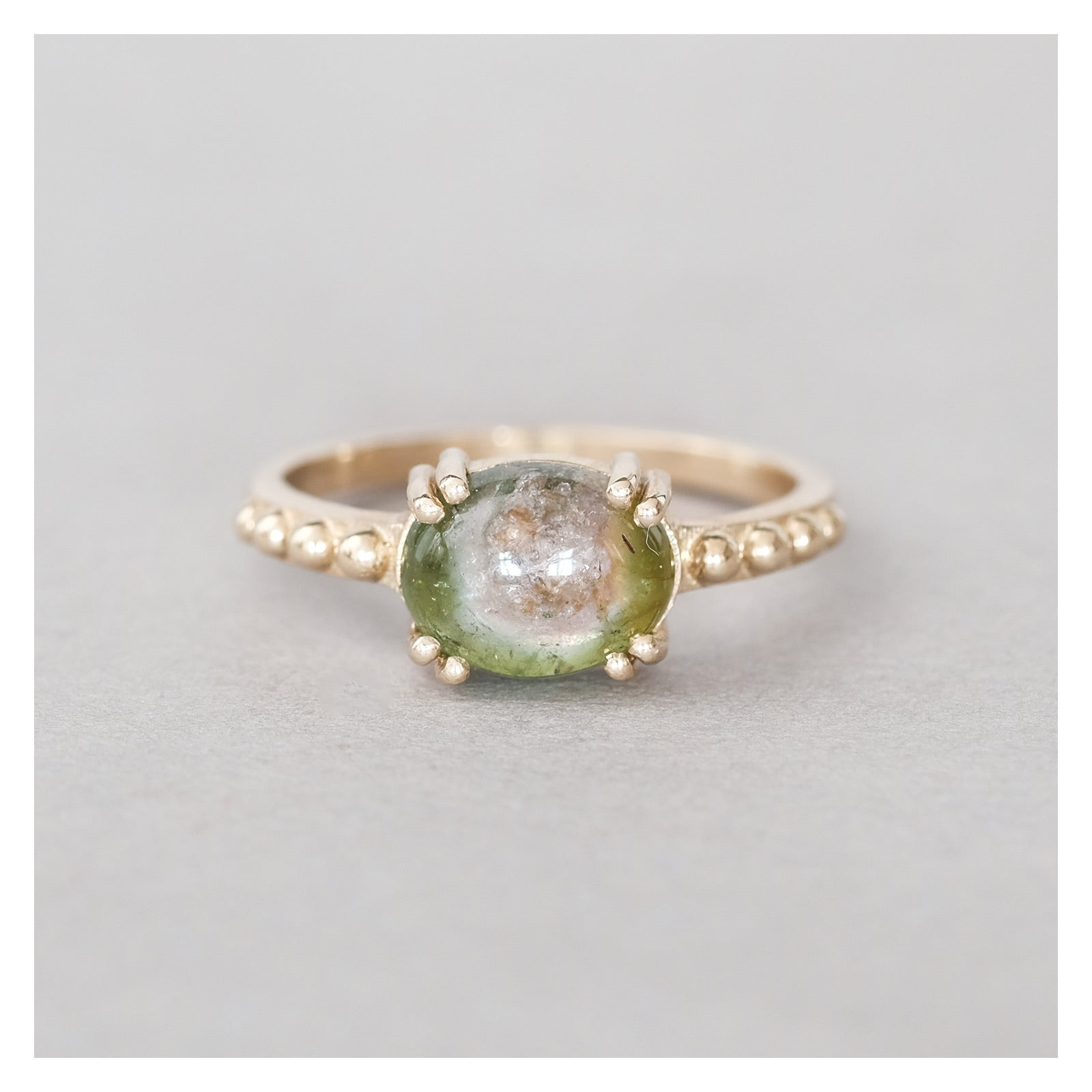 dale watermelon tourmaline ring #1