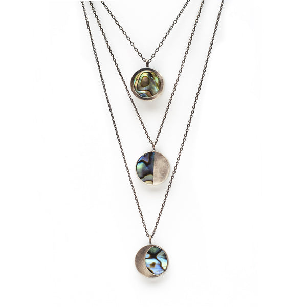 the moon necklace / abalone shell