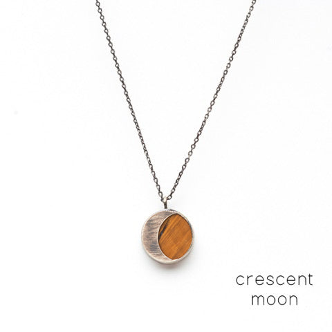 the moon necklace / tiger eye