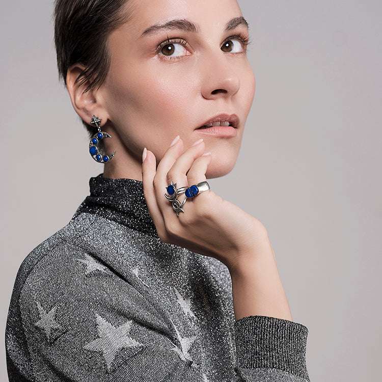 le ciel et la lune earrings