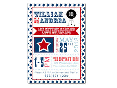 Patriotic BBQ Themed Invitations