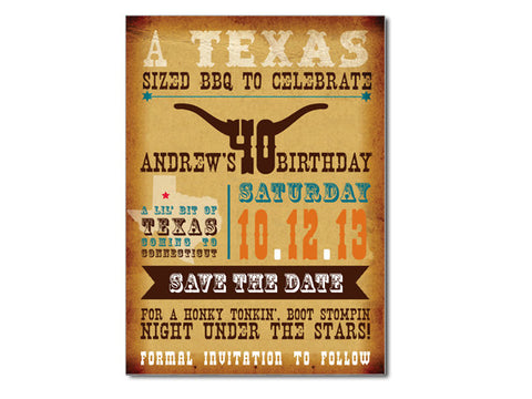 Western Themed Invitations