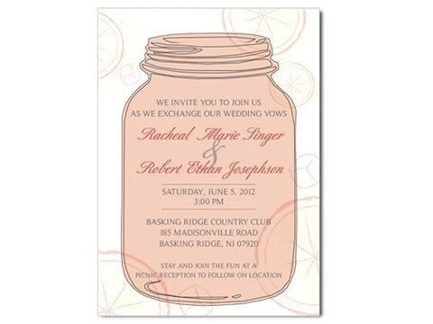 Mason Jar Invitations
