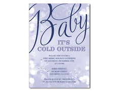 Baby It's Cold Outside Baby Shower Invitations