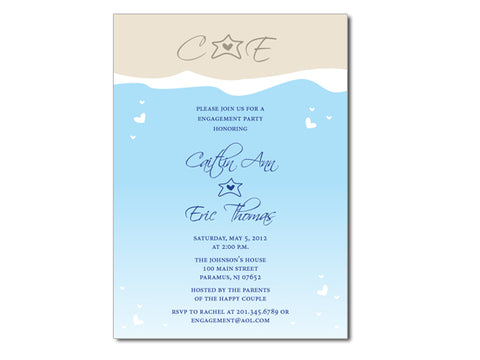 Modern Beach / Ocean Invitations