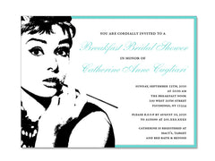 Breakfast at Tiffany Themed Invitations for Wedding, Bridal or Baby Shower, Birthday or any other Party