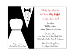 Modern Bride and Groom Invitations