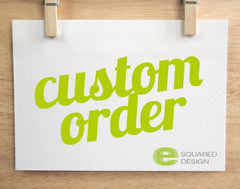 Custom Order - Set of 10 Invites/Envelopes