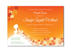 Autumn / Fall Bride Bridal Shower Invitations