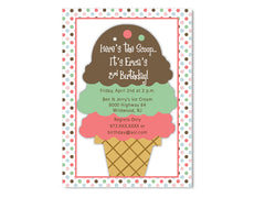 Ice Cream Cone Birthday Invitations