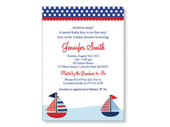 Nautical Boy Baby Shower Invitations