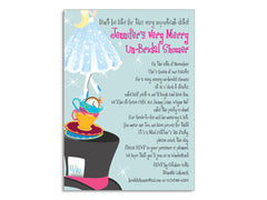 Mad Hatter / Alice in Wonderland Themed Invitations for Wedding, Bridal or Baby Shower, Birthday or any other Party
