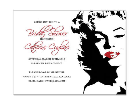 Marilyn Monroe Themed Invitations