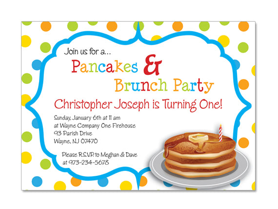 breakfast birthday party invitations Josemulinohouseco