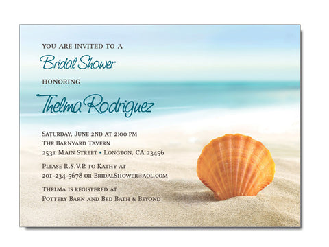 Seashell Invitations