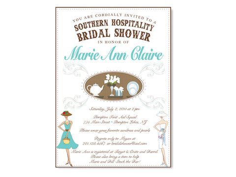 Southern Hospitality Bridal Shower Invitations
