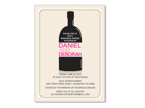 Bottle Themed Invitations