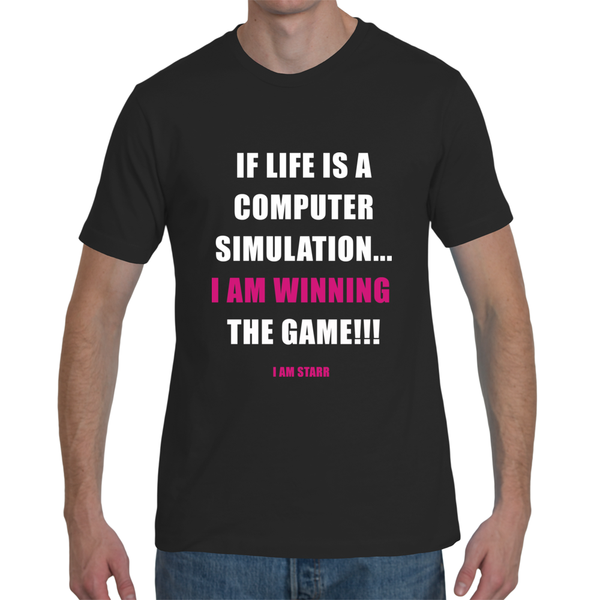 'WINNING THE COMPUTER SIMULATION' TEE (Unisex)