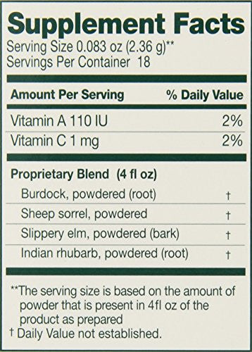 Essiac International Herbal Supplement Powder, 1.5 Ounce