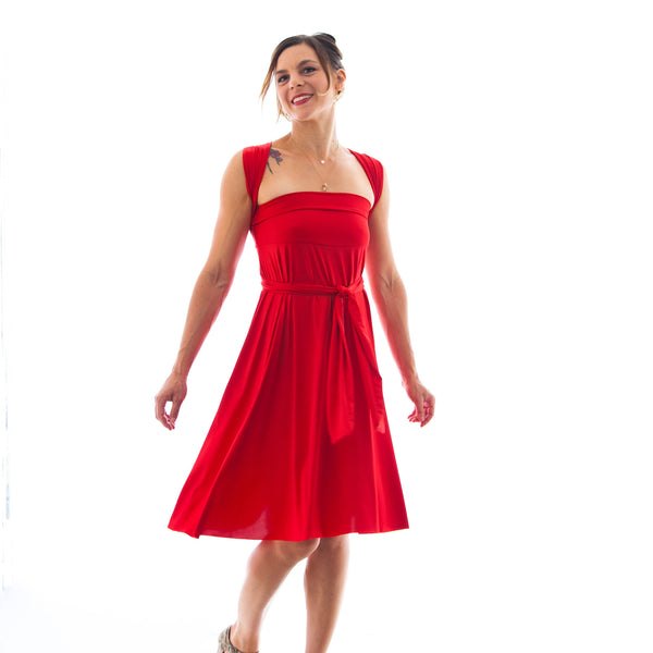 The Infinite Skirt Dress in Red