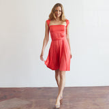 The Infinite Skirt Dress in Coral