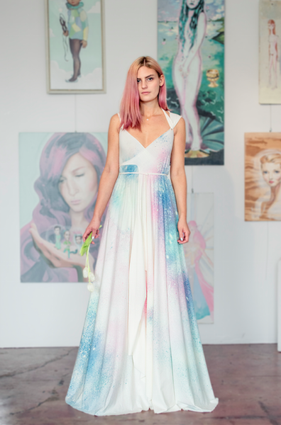 Custom Astral Love Wedding Gown