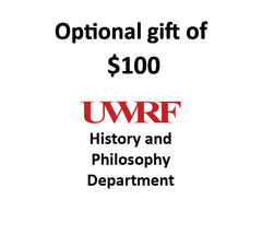 $100.00 Gift to History & Philosophy Department