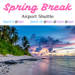 International Student Airport Shuttle (Spring Break 2017)