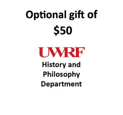 $50.00 Gift to History & Philosophy Department