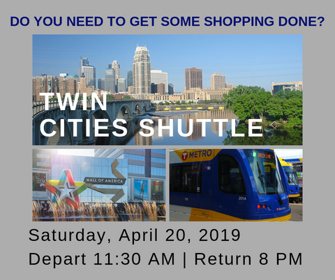 Twin Cities Shuttle - April 20, 2019
