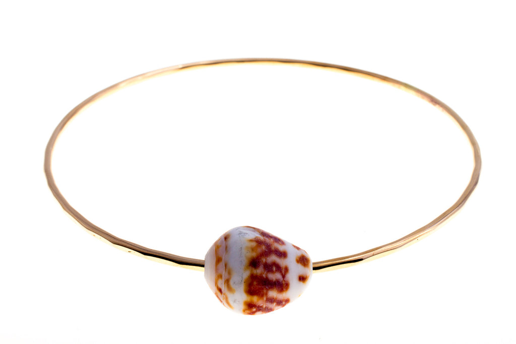 Shell Gold Bangle