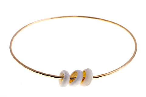 Puka Shell Gold Bangle