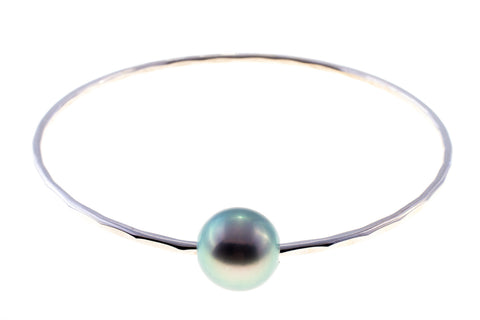 Tahitian Pearl Silver Bangle