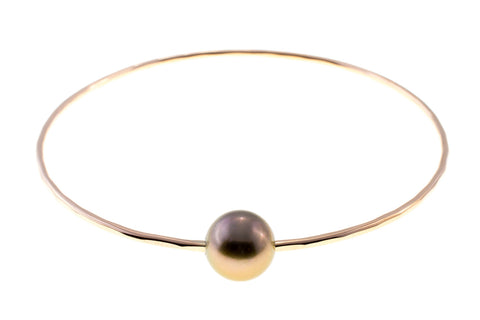 Tahitian Pearl Gold Bangle
