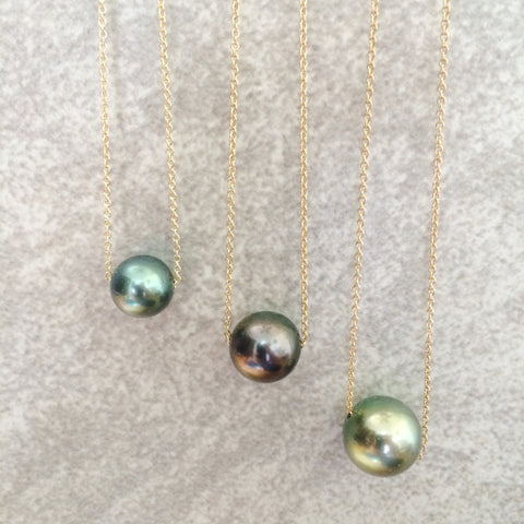 Sliding Tahitian Pearl Necklace